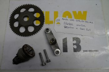 APRILIA SR50 GP1 DI-TECH    STARTER MOTOR BENDIX & GEAR RING  #2 (CON-A)